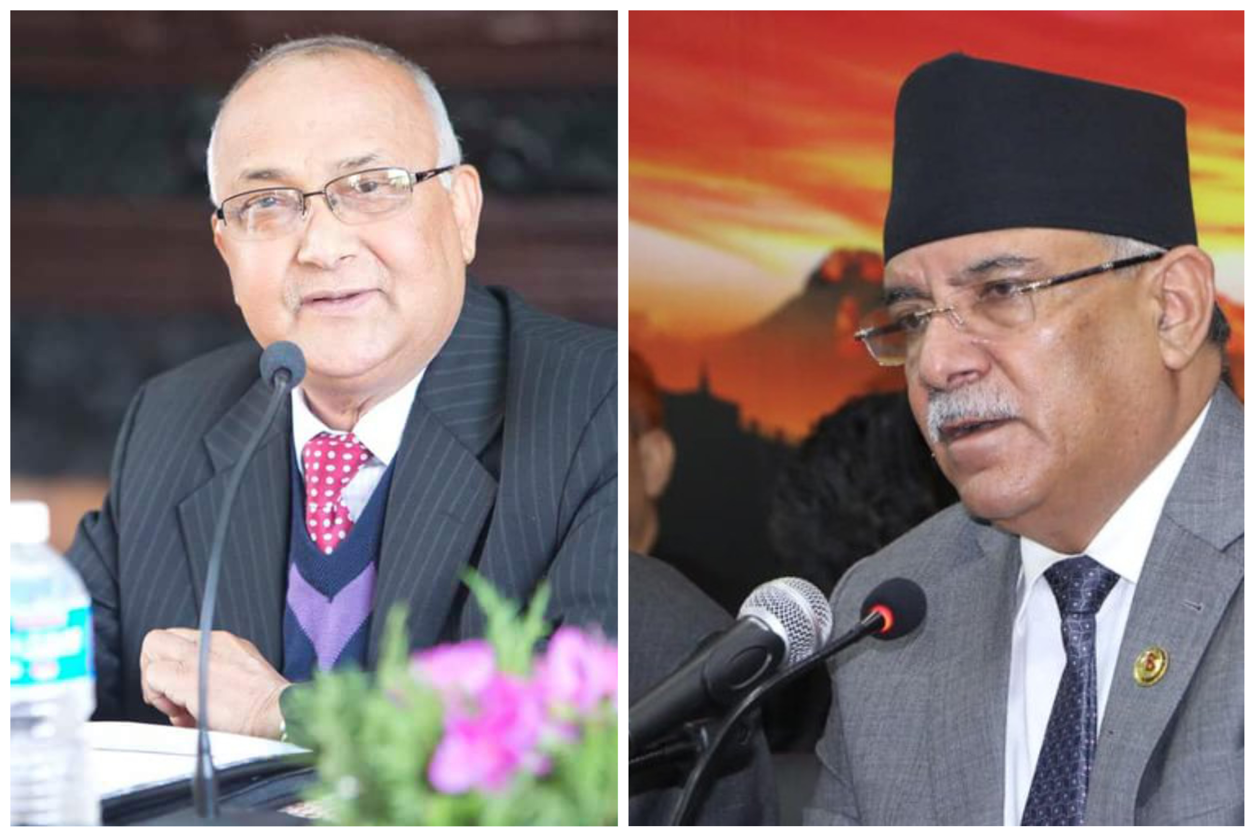 kp woli and prachanda