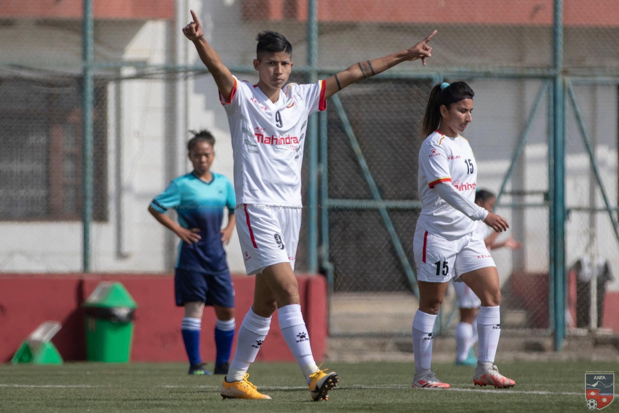 राष्ट्रिय महिला लिग फुटबल: चाैदण्डीगढीमाथि एपिएफ विजयी, साम्बा एक्लैको १२ गोल…