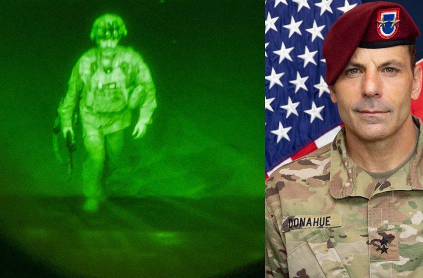 मेजर जनरल क्रिस डोनाह्यु, सबैभन्दा अन्तिममा अफगानिस्तान छोड्ने अमेरिकी सैनिक
